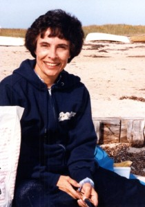 Mom at Cape Cod, 1983, while a Ph.D. candidate at Boston College